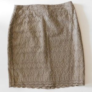 Ann Taylor Crocheted Pencil Skirt